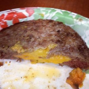 Garden Fresh stuffed burger