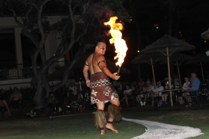 Turtle Bay Resort fire show