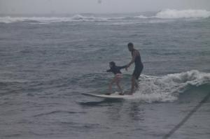Kids surfing Oahu