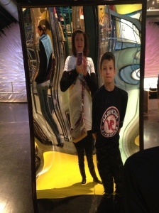 Michigan Science Center mirror