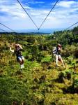 Dual zipline in Hawaii