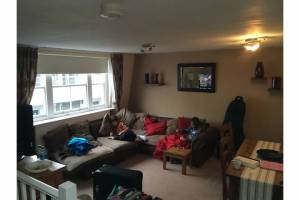 Living room of rented flat