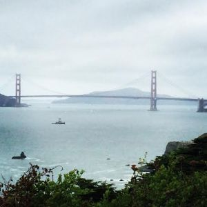 View of the Golden Gate Bridge from Land's End