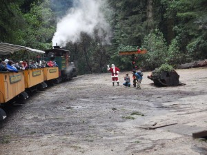 Santa at Roaring Camp
